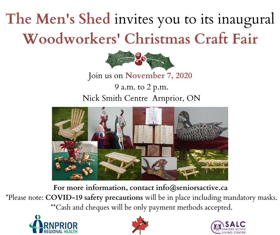 Men's Shed Christmas Craft Fair FB post